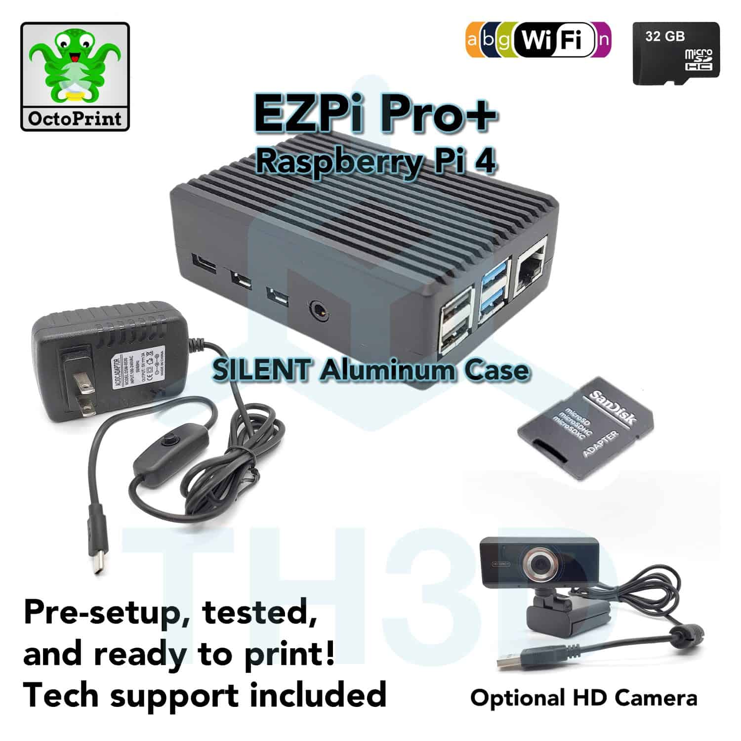EZPi Pro (Pi 4B) – Plug and Play Octoprint Setup by TH3D (US)